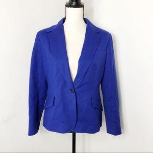 Talbots Wool Single One Button Blazer Jacket 12P